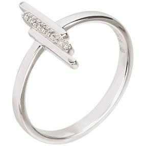 Ring 925 Sterling Silber mit Diamant