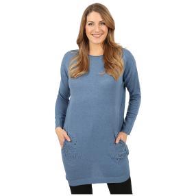 Damen-Longpullover 'Lady Glam' mit Strass blau