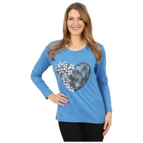 Damen-Pullover 'Heart Beat' blau
