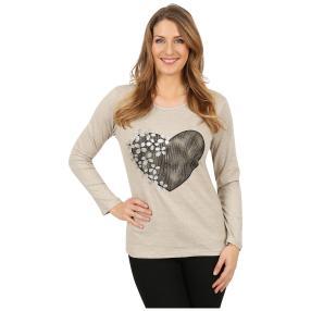 Damen-Pullover 'Heart Beat' ecrue