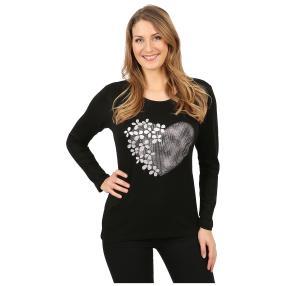 Damen-Pullover 'Heart Beat' schwarz