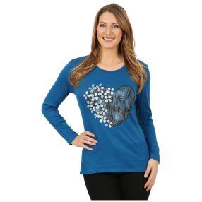 Damen-Pullover 'Heart Beat' dunkelblau