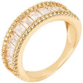 E. NAEEM Ring Zirkonia goldfarben