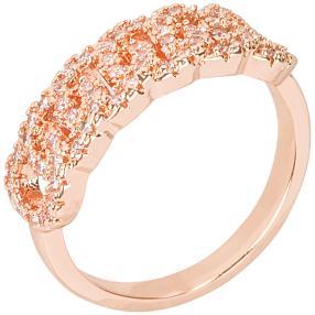 E. NAEEM Ring Zirkonia rosegoldfarben