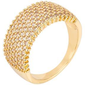 E. NAEEM Ring Zirkonia gelbgoldfarben