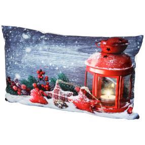 LED-Kissen Weihnachtslaterne 40x40cm