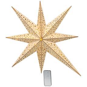 LED-Weihnachtsstern, 52 cm, natur