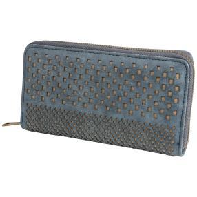 Damenbörse blau Lasercut