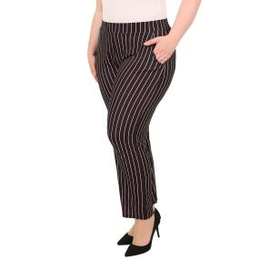CANDY CURVES Hose gestreift schwarz/flamingo