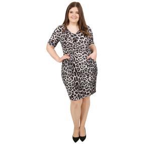 CANDY CURVES Kleid schwarz/weiß/grau