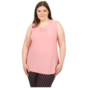 CANDY CURVES Top mit Spange flamingo