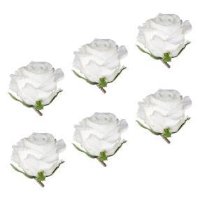 Rosenclips gefrostet 6er weiß