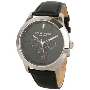 Kenneth Cole Herrenuhr Quarz Multifunktion schwarz