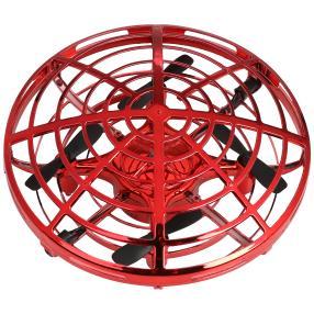 Fliegendes UFO, rot