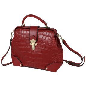 Bags by CG Henkeltasche rot kroko