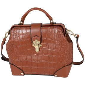 Bags by CG Henkeltasche cognac kroko