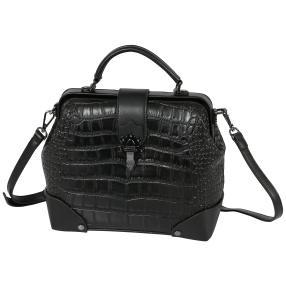 Bags by CG Henkeltasche schwarz kroko
