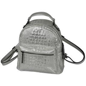 Bags by CG Rucksack silber alligator
