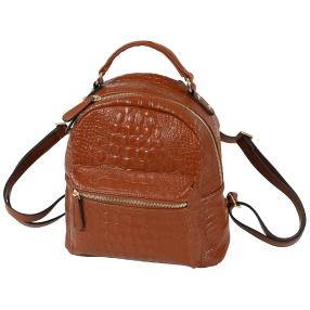 Bags by CG Rucksack cognac alligator