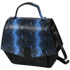 Bags by CG Henkeltasche blau python