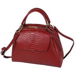 Bags by CG Henkeltasche rot alligator