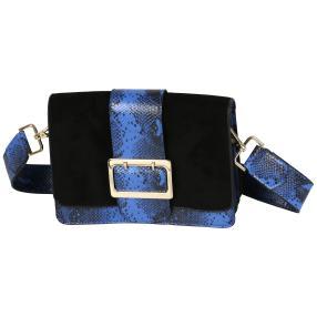 Bags by CG Umhängetasche blau python