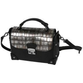 Bags by CG Henkeltasche silber kroko