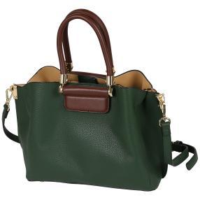 Bags by CG Henkeltasche grün braun