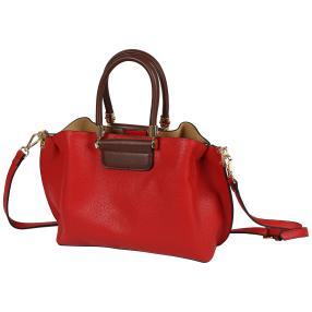 Bags by CG Henkeltasche rot braun