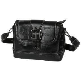 Bags by CG Umhängetasche schwarz kroko