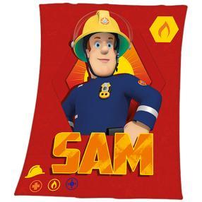 Fleece-Decke Feuerwehmann Sam
