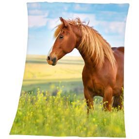 Fleece-Decke Pferd, 130 x 160 cm