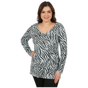 MODERN TIMES Damen-Pullover 'Zebra' hellblau