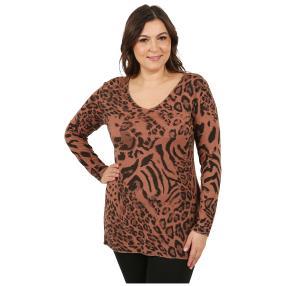 MODERN TIMES Damen-Pullover 'Tiger' braun