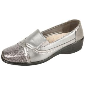 TOPWAY Comfort Damen-Slipper pewter