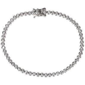 Tennisarmband  925 St. Silber rhodiniert