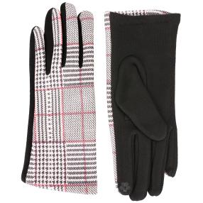 TOP FASHION Handschuhe schwarz Glencheck one size