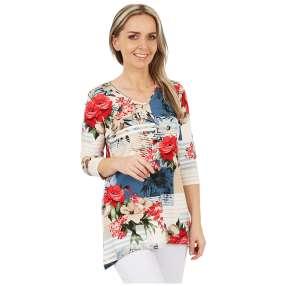 MILANO Design Longshirt 'Rebecca' multicolor