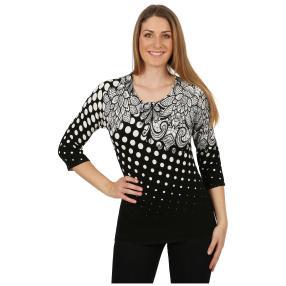 IMAGINI Feinstrick-Pullover 'Anzio' schwarz/weiß