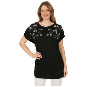 Damen-Shirt 'Lindsay' mit Strass schwarz