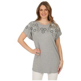 Damen-Shirt 'Lindsay' mit Strass grau