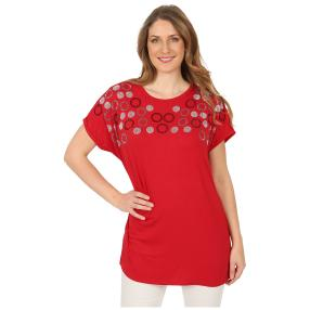Damen-Shirt 'Lindsay' mit Strass rot