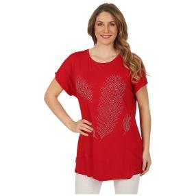 Damen-Shirt 'Carrie' mit Strass rot