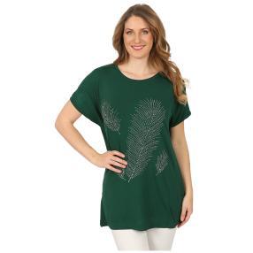 Damen-Shirt 'Carrie' mit Strass grün