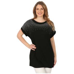 Damen-Shirt 'Jillian' mit Strass schwarz