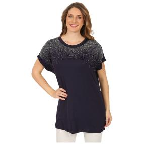 Damen-Shirt 'Jillian' mit Strass blau