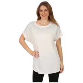 Damen-Shirt 'Jillian' mit Strass weiß