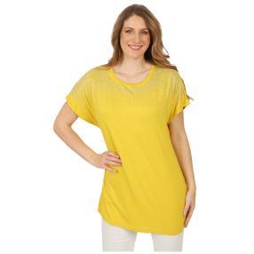 Damen-Shirt 'Jillian' mit Strass gelb