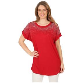Damen-Shirt 'Jillian' mit Strass rot