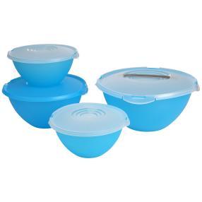 Salatschüsselset blau, 4er Set